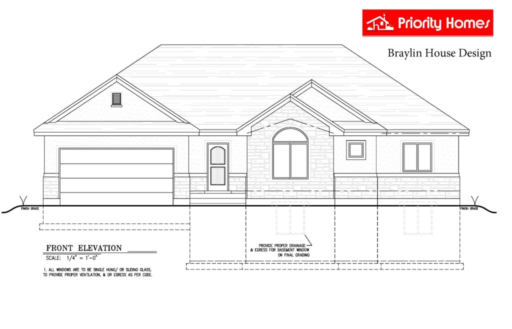 Braylin house plan elevation